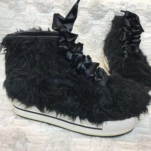 Yru Elevation Fur Platform Sneakers